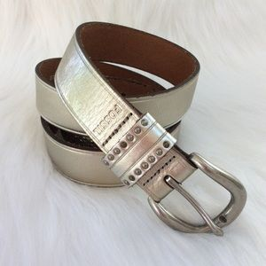 ⭐️Fossil Silver Leather Belt